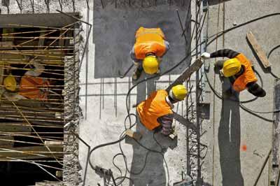 Poolse werknemers op de werf